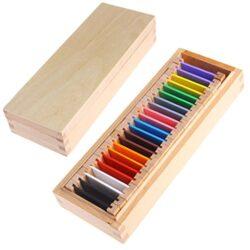 Dabixx Baby Educazione Giocattoli Montessori Matematica Conteggio Materiale Sensoriale Apprendimento Colore Tablet Box Legno Prescolare Giocattolo Colorato Box 2 0