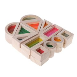 Dabixx Building Blocks Rainbow Acrylic Wooden S Giocattolo Educativo Per Bambini Montessori Giocattolo Per Bambini 0