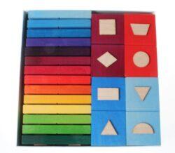 Domino Geometrica Di Legno Di Grimms 0