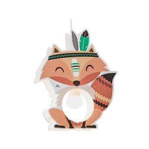 Elobra Little Indians Lampada A Sospensione Per Bambini In Legno 40 W Colore Arancione 0