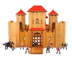 Erst Holz Bellissimo E Solido Castello In Legno Eco Con 8 Cavalieri Inclusi 931 0140 D7 0