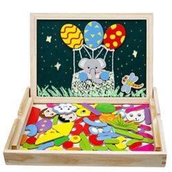 Giocattoli In Legno Lavagnetta Puzzle Magnetica Costruzioni Giochi E Gioco Da Tavolo Per Giochi Educativo Bambini Regalo Di Compleanno Natale 3 4 5 6anni 0