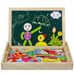 Giocattoli In Legno Puzzle Magnetica Anzahl Mathe Lernen Lavagna 2 In 1 Educativi Jigsaw Costruzioni Giochi E Gioco Da Tavolo Per Bambini Bambino Bimba Da 3 4 5 Anni 0