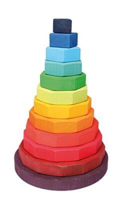 Gran Torre Geometrico Dal Legno Di Tilo Grimms 0