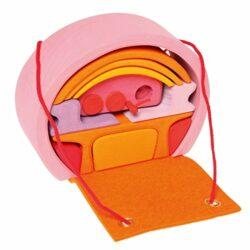 Grimms Gioco E Design Legno Grimms Bauhaus Rosa Arancio 0
