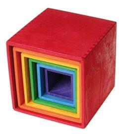 Grimms Toys Scatole Da Impilare Arcobaleno 0