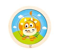 Hape 2 In 1 Spinning Farm Puzzle Giochi In Legno Multicolore 5 X 2 E1606 0