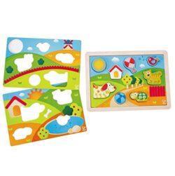 Hape Puzzle 3 In 1 Pepe E I Suoi Amici E0451 0