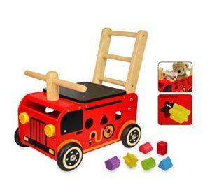 I M Toy Camion Dei Pompieri In Legno Cavalcabile Giocattolo Gioco Prima Infanzia Im87480 0