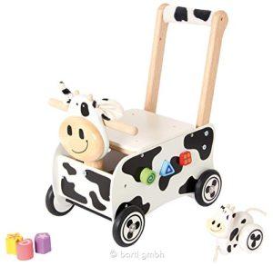I M Toy Carrellino Mucca Cavalcabile Giocattolo Giochi In Legno Prima Infanzia Per Bambini Im87131 0
