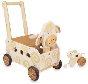 I M Toy Carrellino Pecora Cavalcabile Giocattolo Giochi In Legno Prima Infanzia Per Bambini Im87400 0