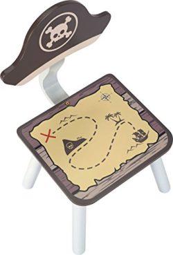 Ib Style Salottino Per Bambini Pirate 3 Combinazioni 4 Pezzi Set Composto Da Tavolo Per Bambini 2 Sedie E Cassapanca 0 0
