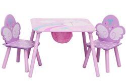 Ib Style Salottino Per Bambini Unicorn 3 Combinazioni 3 Pezzi Set Composto Da Tavolo Per Bambini 2 Sedie Set Di Mobili Per Bambini Con Cassapanca 0