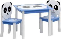 Ib Style Set Di Mobili Per Bambini Panda 3 Combinazioni 4 Pezzi Set Composto Da Tavolo Per Bambini 2 Sedie E Cassapanca Set Di Mobili Per Bambini Con Cassapanca 0 1