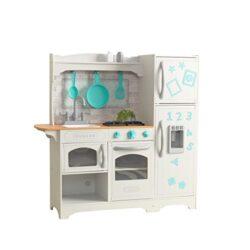 Kidkraft 53424 Cucina Giocattolo In Legno Per Bambini Countryside Con Frigorifero Magnetico Macchina Del Ghiaccio E Accesori Di Gioco Inclusi 0