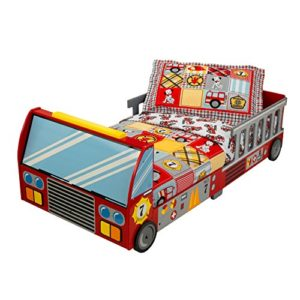Kidkraft 76031 Lettino Stile Camion Dei Pompieri Con Giroletto In Legno Mobili Per Camera Da Letto Per Bambini 0