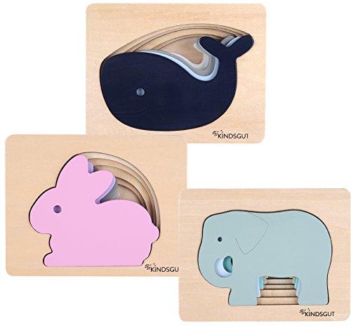 Kindsgut Puzzle In Legno A Tema Animali Balena 0 5