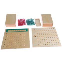 Kofun Montessori Mathematics Material Multiplication Bead Board Juguetes Educativos Kid 0