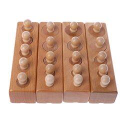 Landum Giocattoli Educativi Per Bambini 1 Set Cilindro Di Legno Blocchi Montessori Blocchi Giocattolo Per Bambini Senso Di Sviluppo Educativo Pratica 0