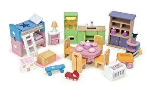 Le Toy Van Me040 Set Accessori In Legno Per Casa Delle Bambole 0