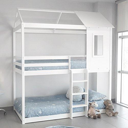 Letto Tipo Montessori A Forma Di Casa Colore Bianco 0