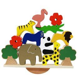 Lewo Legno Gioco Di Bilanciamento Montessori Impilare Blocchi Assortiti Giocattolo Educativi Bambino 3 Anni 0