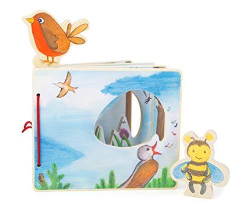 Libro Illustrato Interattivo Per Bambini In Legno Tra Le Nuvole 0