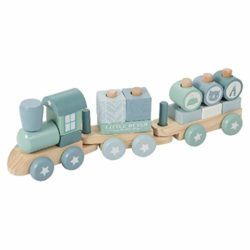 Little Dutch Ferrovia In Legno Adventure Con Formine A Incastro Di Colore Verde Menta 4417 0