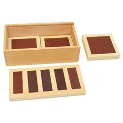 Magideal Legno Montessori Sensoriale Materiale Grezzo Liscia Sand Boards Regalo Giocattolo Bambini 0