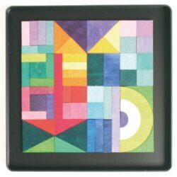 Magnet Puzzle Geo Grafica Di Betulla E Popal Legno Grimm 0