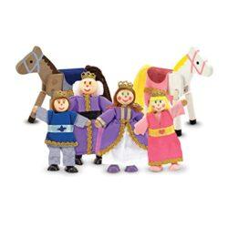 Melissa Doug Famiglia Reale Bambole In Legno 0