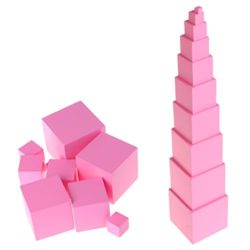 Misha Giocattolo Montessori A Torre Rosa Giocattoli Educativi Montessori Montessori In Legno 0