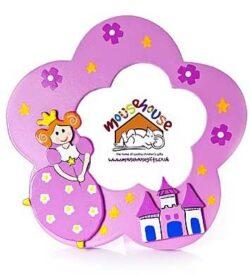 Mousehouse Gifts Cornice Per Foto Per Bambini Con Principessa Rosa Per La Stanza Di Bambine 0