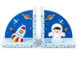 Mousehouse Fermalibri 3d In Legno Per Bambini Tema Razzo Spaziale 0