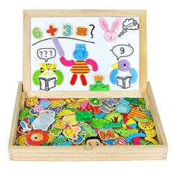 Nuheby Puzzle Magnetico Legno Lavagna Magnetica Per Bambini Giochi In Legno Doppio Lato Lavagnetta Giochi Educativi Costruzioni Legno Regalo Ragazza Ragazzo 3 4 5anni160 Pezzi 0