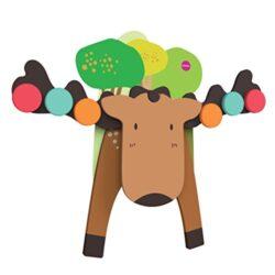 Oribel Vertiplay Lalce Goofy Moose Giocatolo Di Legno E Magnetico Che Sviluppa Lequilibrio E La Matematica Or805 0