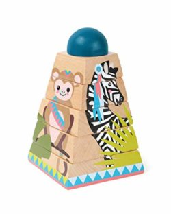 Puzzle In Legno Con Dadi Torre Jungle 0