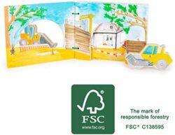 Small Foot 12039 Libro Per Fotografie Interattivo In Legno Certificato Fsc 100 Libro Per Bambini Con Veicoli Regt La Fantasia Sui Giocattoli 0