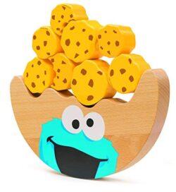 Small Foot Sesame Street Con Cookie Monster In Legno Certificato Fsc Al 100 Altalena Per Bambini Dai 12 Mesi Della Marca Stimola La Manualit E La Concentrazione Giocattoli 10973 0