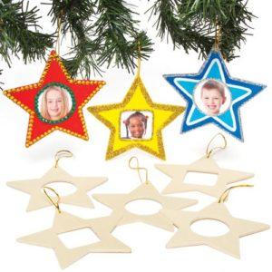 Stelle Portafoto In Legno Per Bambini Da Colorare Decorare E Appendere Allalbero Di Natale Confezione Da 8 0
