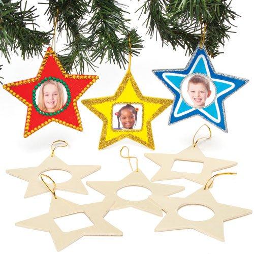 Stelle Portafoto In Legno Per Bambini Da Colorare Decorare E Appendere All Albero Di Natale Confezione Da 8 Giochi In Legno