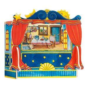 Teatrino e marionette giocattolo