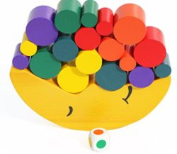Toys Of Wood Oxford Bilancia Da Luna Giocattolo In Legno Blocchi Colorati Per Imparare I Colori Impilare E Contare Gioco In Legno Bilanciato Per Bambini 0