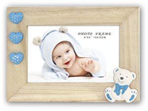 Zep Baby Patty Collezione Ze44b Cornice Portafoto In Legno Colore Naturaleblubianco 10 X 10 Cm 0
