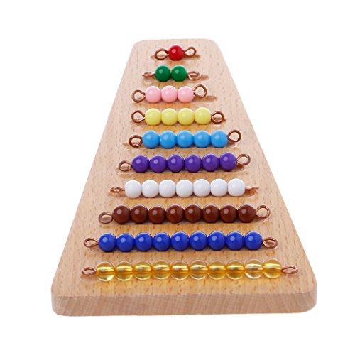 Zjl220 Montessori Matematica Materiale Perle Scale Matematica Giocattolo Per Bambini Primi Giocattoli Di Apprendimento Prescolare 0