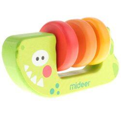 Kesoto Giocattolo Montessori Musical Grip Rattle Teether In Legno Regalo Di Compleanno Battesimo Per Bambini 0