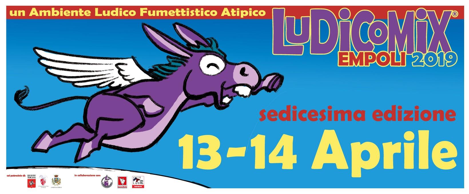 XVI edizione di LUDICOMIX Empoli – Dal 13 al 14 Aprile 2019