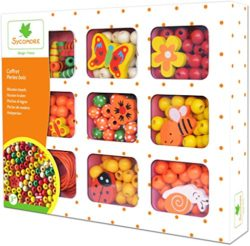 Au Sycomore Kit Attivit Creative Perline Di Legno Arancione Cre33131 0