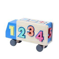 Bjulian Buntes Steckspiel Camion Con Dadi Paedagogisch Giocattolo Educativo Numero Puzzle 13 Pezzi 0