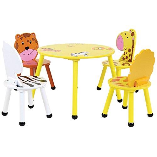 Da tavolo per bambini e 4 sedie colorate Leomark IT